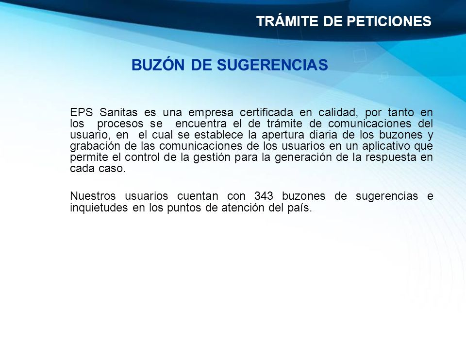 BUZÓN DE SUGERENCIAS TRÁMITE DE PETICIONES