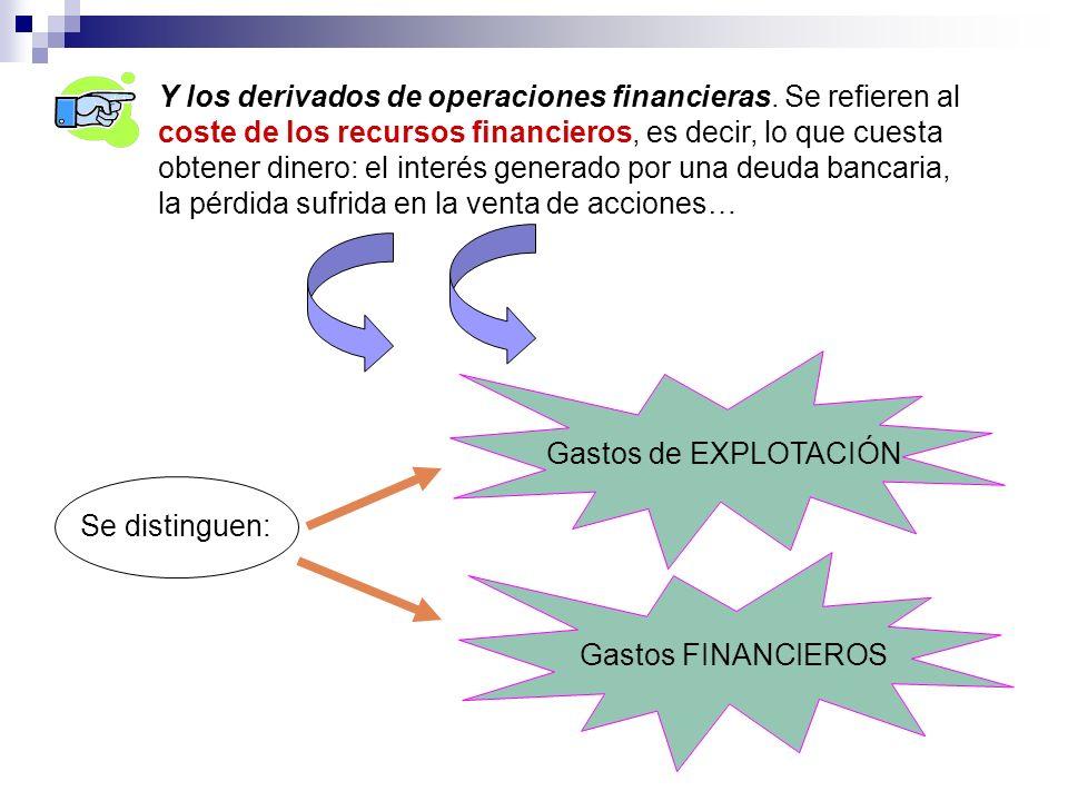 Y los derivados de operaciones financieras
