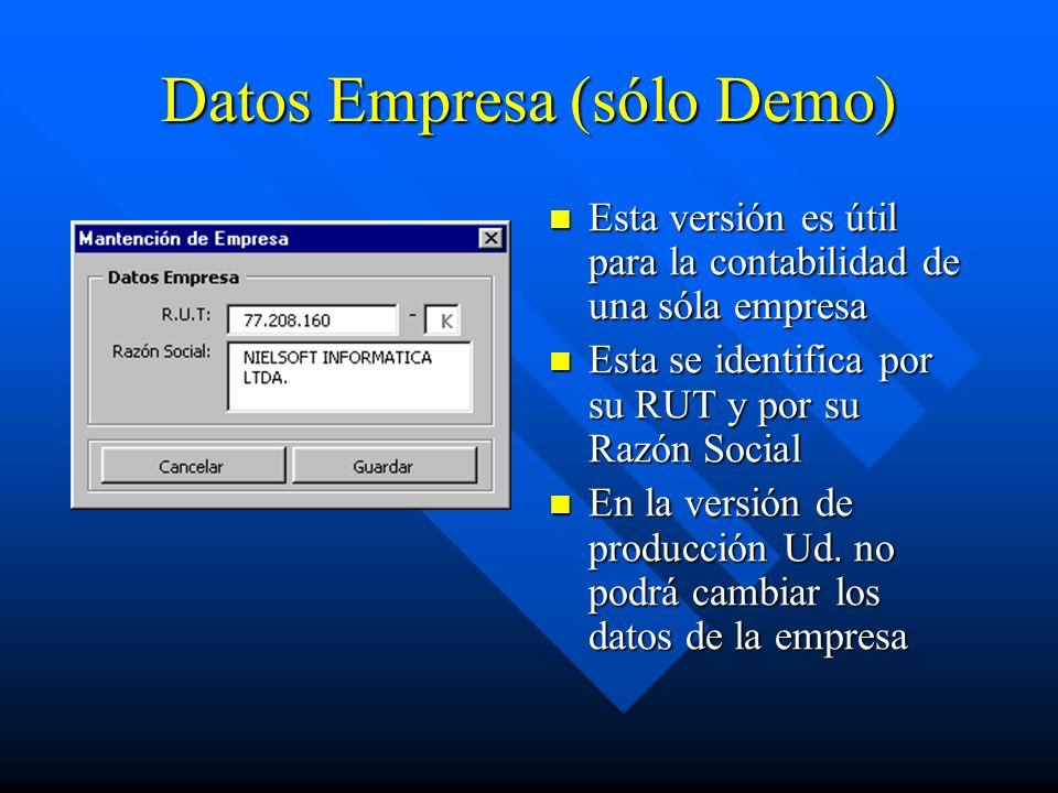 Datos Empresa (sólo Demo)