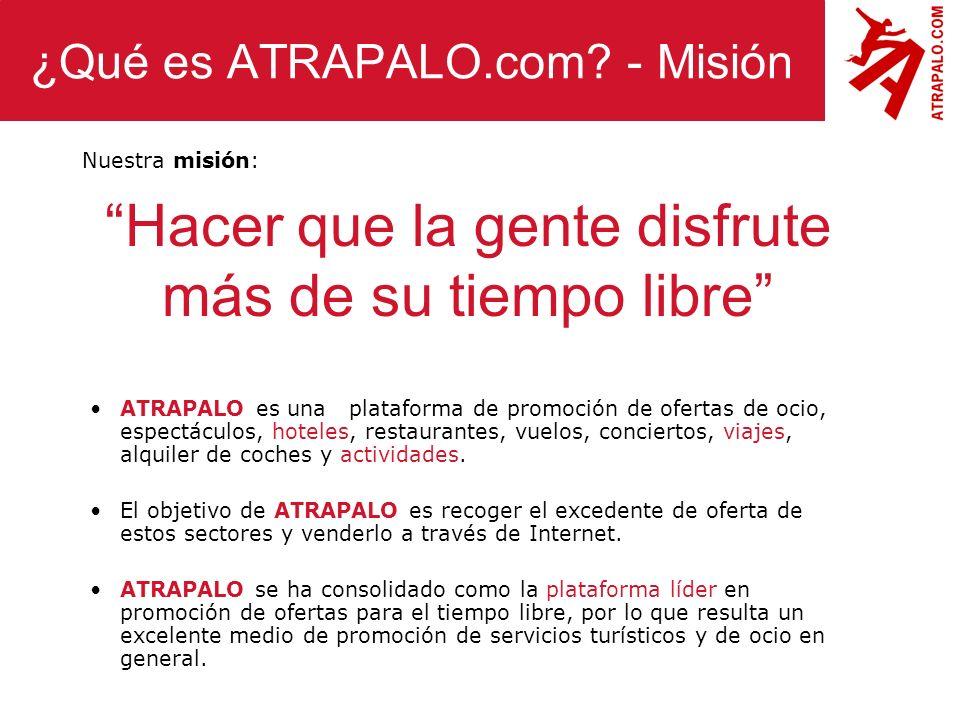 ¿Qué es ATRAPALO.com - Misión