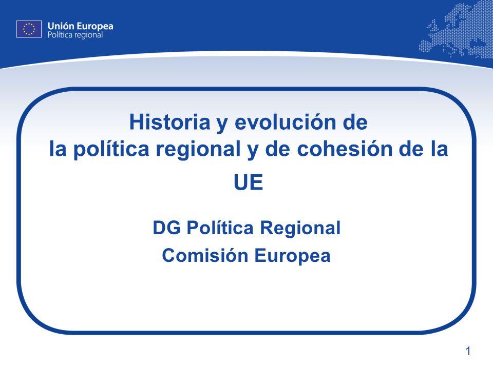 Historia y evolución de la política regional y de cohesión de la UE