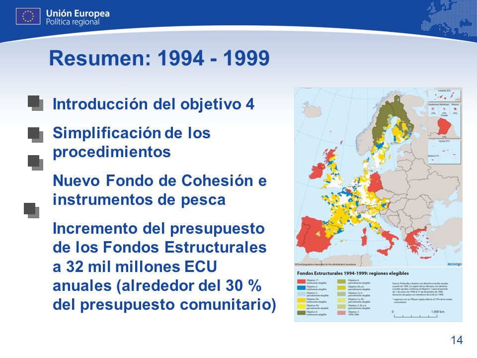 Resumen: 1994 - 1999 Introducción del objetivo 4
