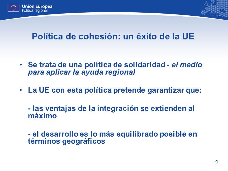 Política de cohesión: un éxito de la UE