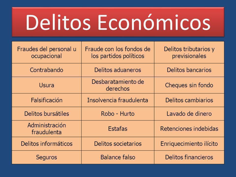 Delitos Económicos Fraudes del personal u ocupacional