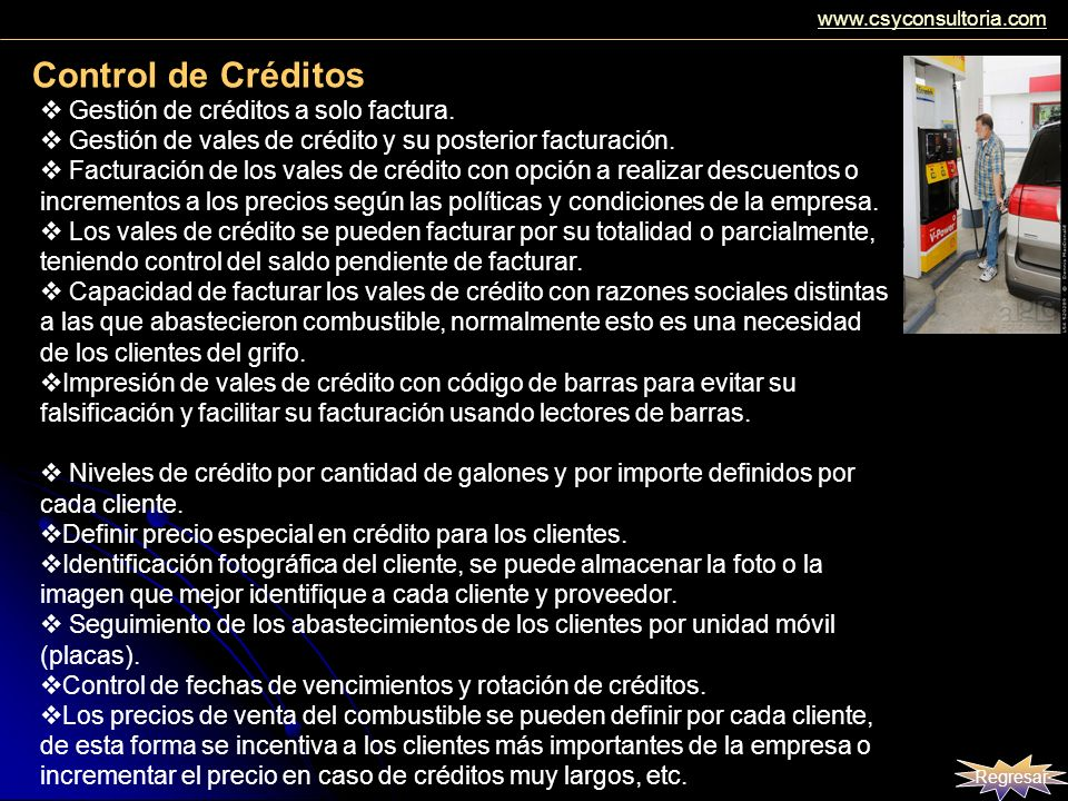 Control de Créditos Gestión de créditos a solo factura.