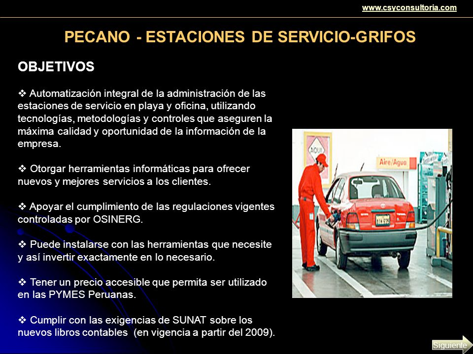 PECANO - ESTACIONES DE SERVICIO-GRIFOS