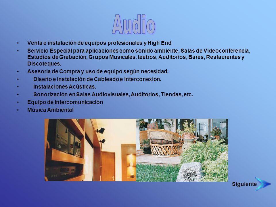 Audio Venta e instalación de equipos profesionales y High End