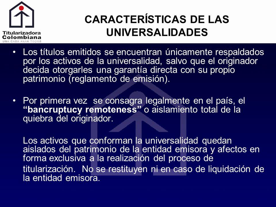 CARACTERÍSTICAS DE LAS UNIVERSALIDADES