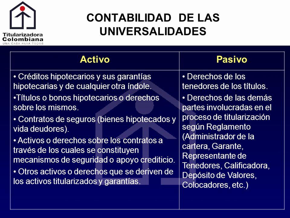 CONTABILIDAD DE LAS UNIVERSALIDADES