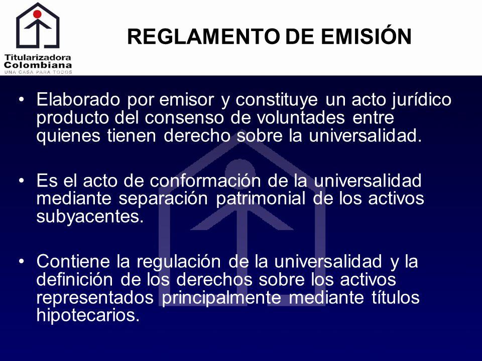 REGLAMENTO DE EMISIÓN