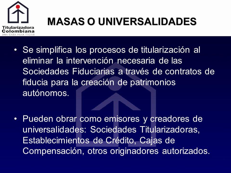 MASAS O UNIVERSALIDADES