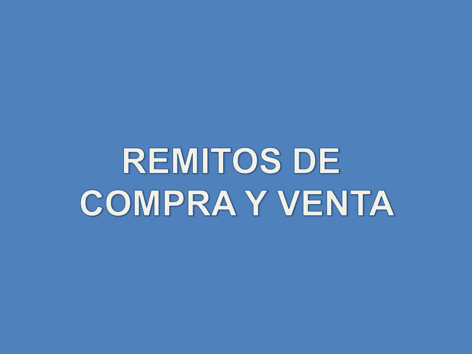 REMITOS DE COMPRA Y VENTA