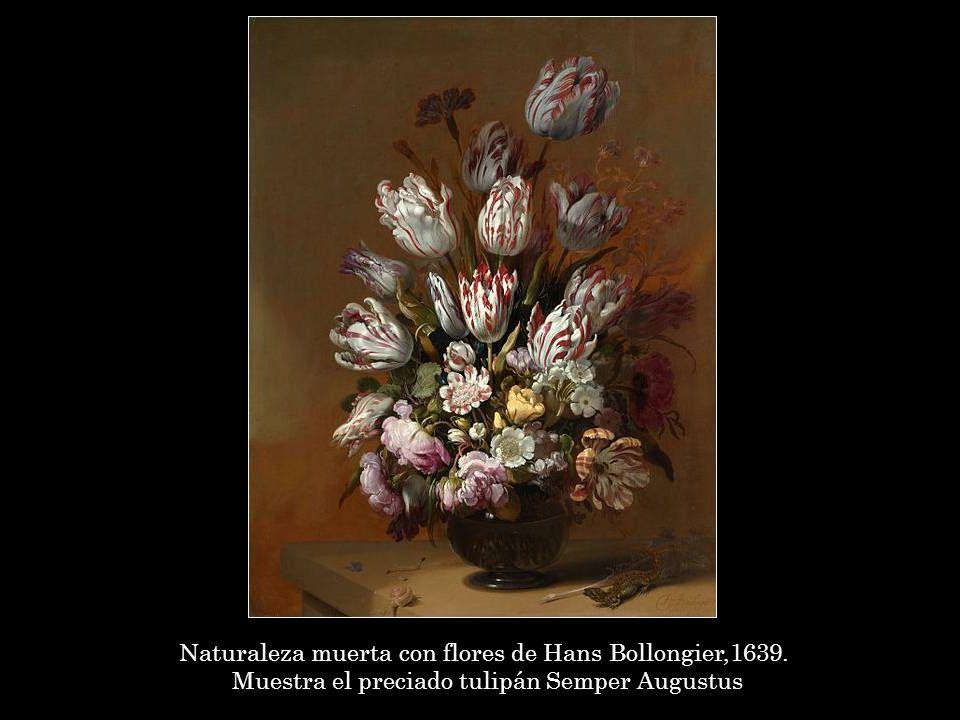 Naturaleza muerta con flores de Hans Bollongier,1639.