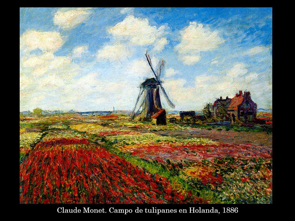 Claude Monet. Campo de tulipanes en Holanda, 1886