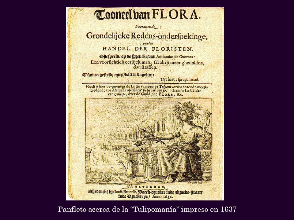 Panfleto acerca de la Tulipomanía impreso en 1637