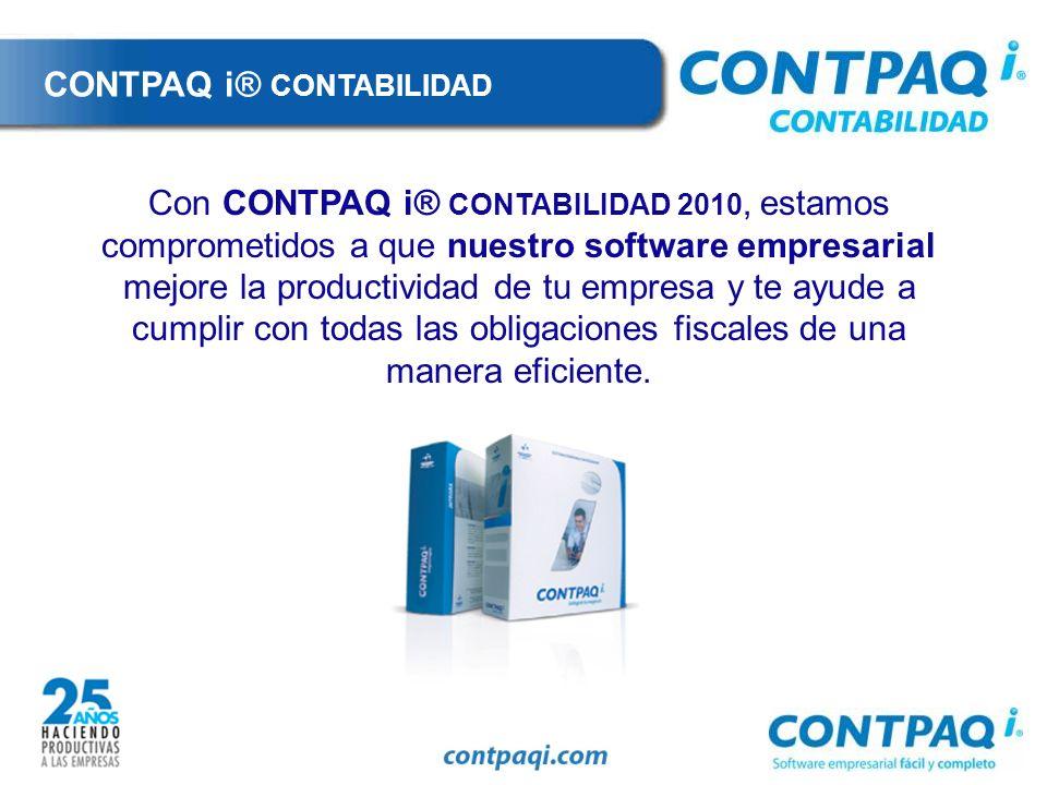 CONTPAQ i® CONTABILIDAD