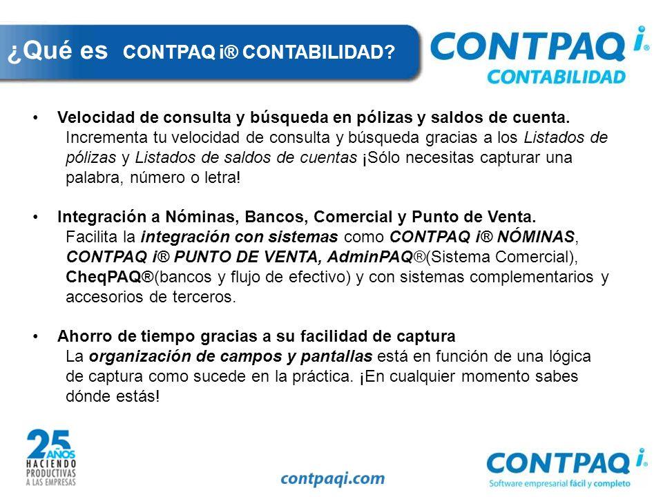 ¿Qué es CONTPAQ i® CONTABILIDAD