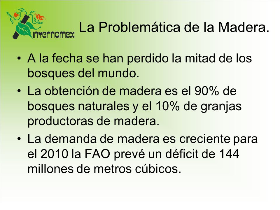 La Problemática de la Madera.