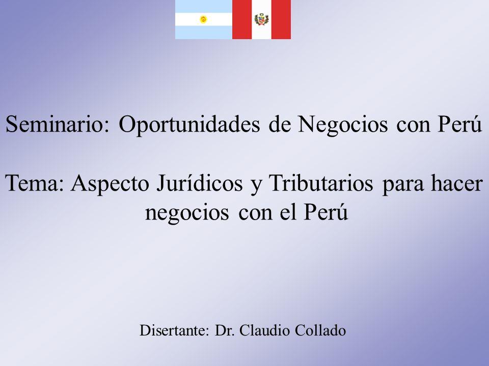 Seminario: Oportunidades de Negocios con Perú