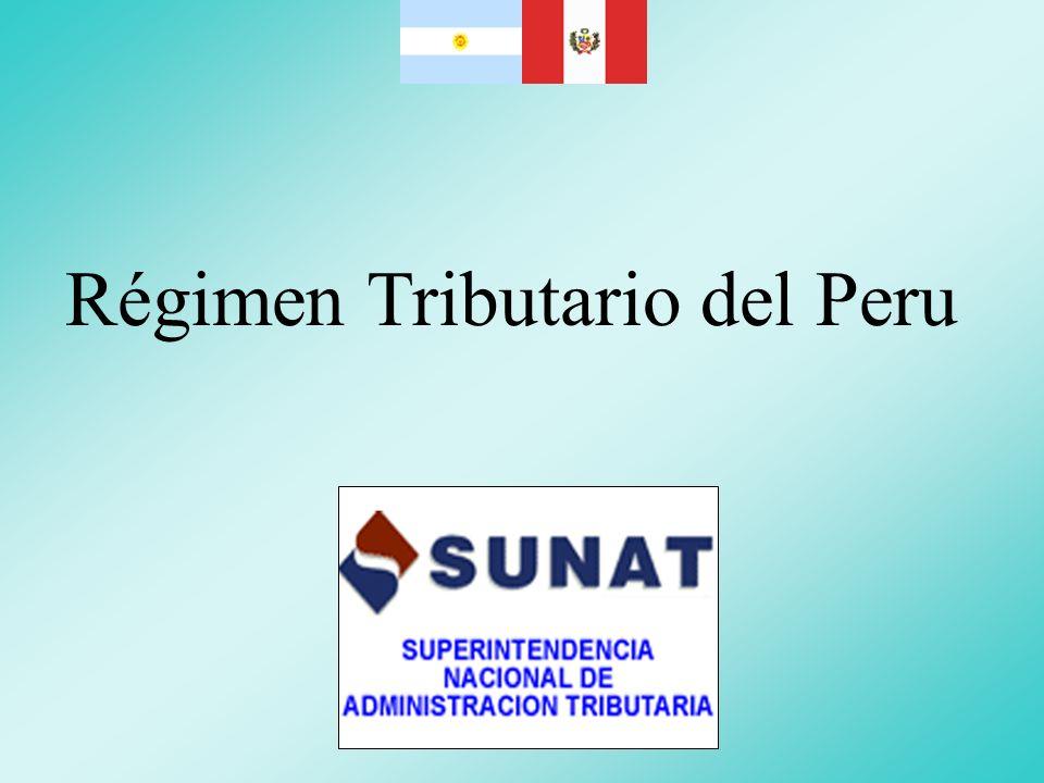 Régimen Tributario del Peru