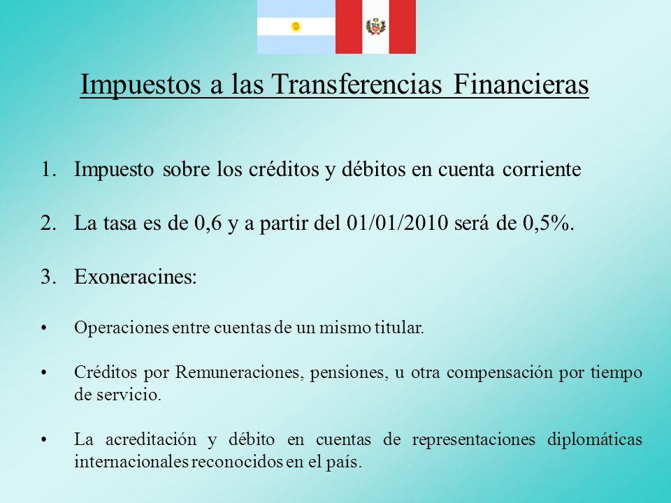 Impuestos a las Transferencias Financieras