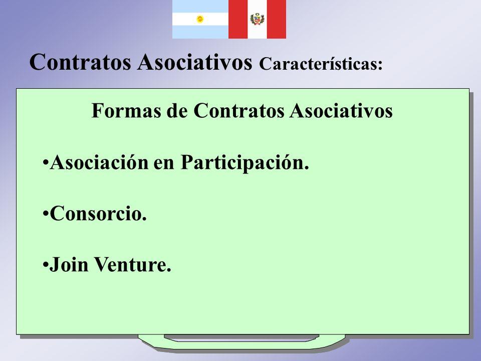 Formas de Contratos Asociativos