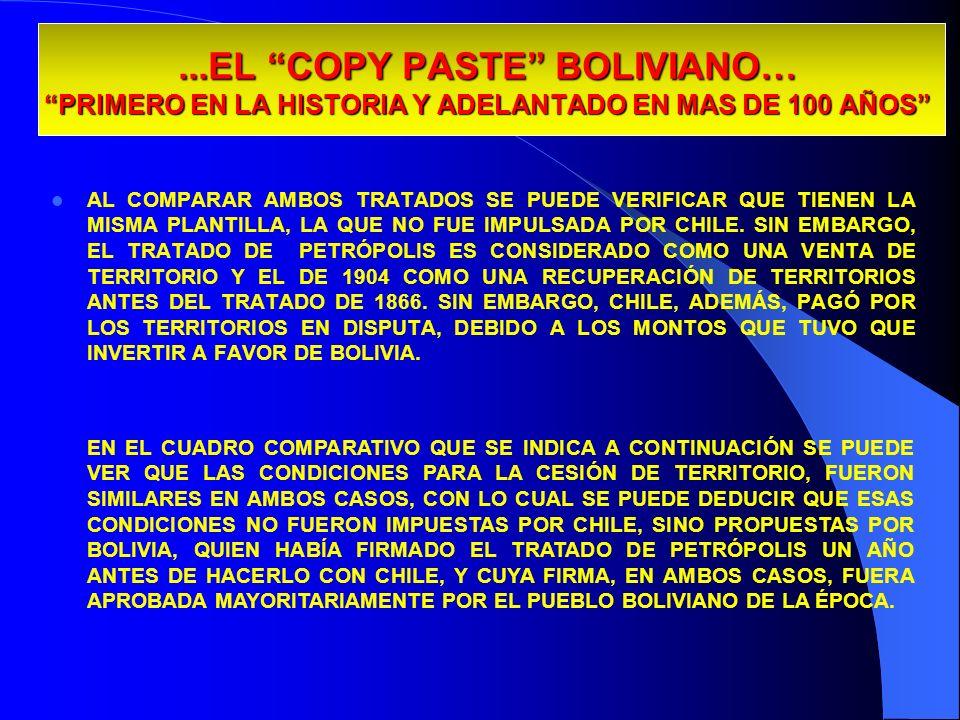 29/03/2017...EL COPY PASTE BOLIVIANO… PRIMERO EN LA HISTORIA Y ADELANTADO EN MAS DE 100 AÑOS
