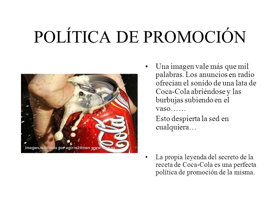 POLÍTICA DE PROMOCIÓN