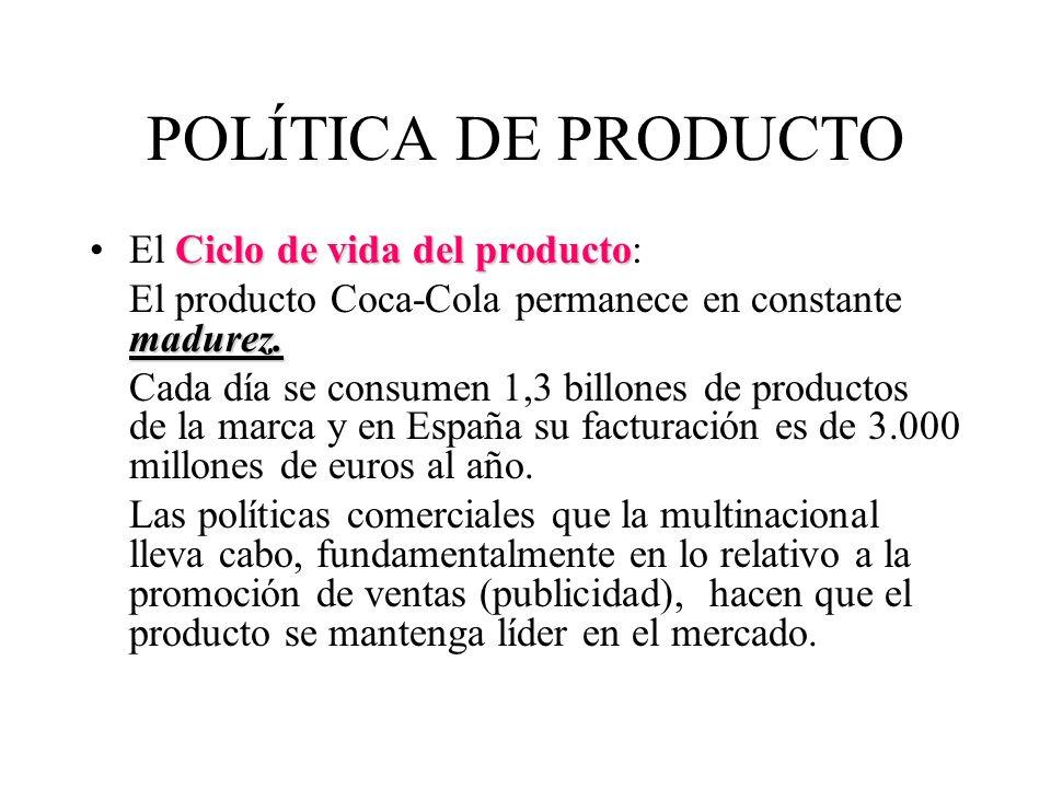 POLÍTICA DE PRODUCTO El Ciclo de vida del producto: