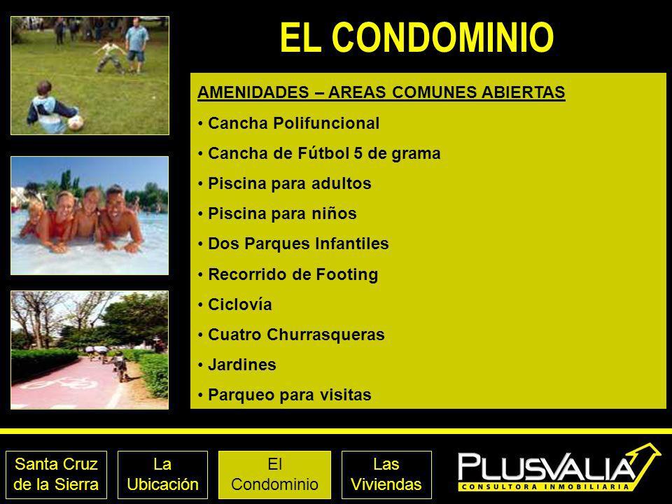 EL CONDOMINIO AMENIDADES – AREAS COMUNES ABIERTAS Cancha Polifuncional