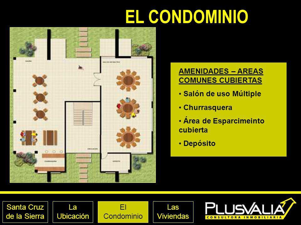 EL CONDOMINIO AMENIDADES – AREAS COMUNES CUBIERTAS