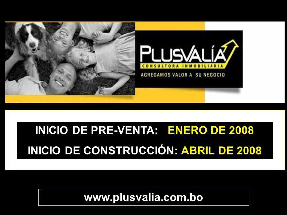 INICIO DE PRE-VENTA: ENERO DE 2008