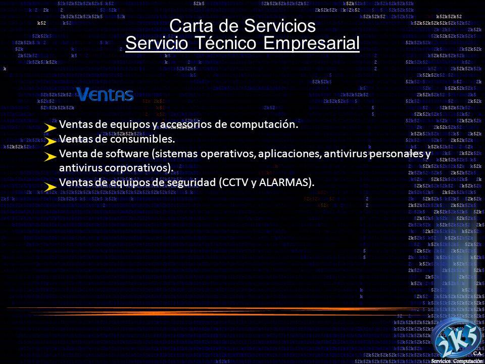 Carta de Servicios Servicio Técnico Empresarial