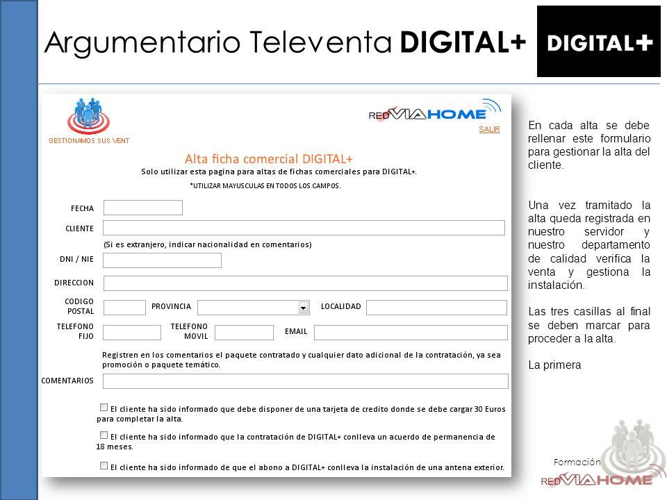 Argumentario Televenta DIGITAL+