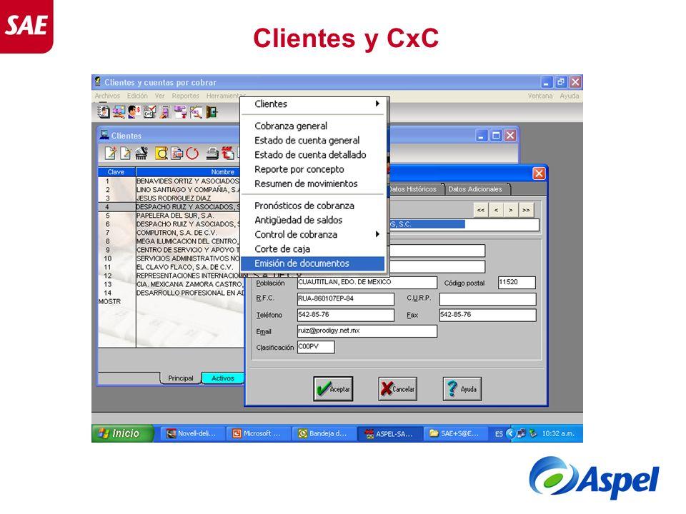 Clientes y CxC