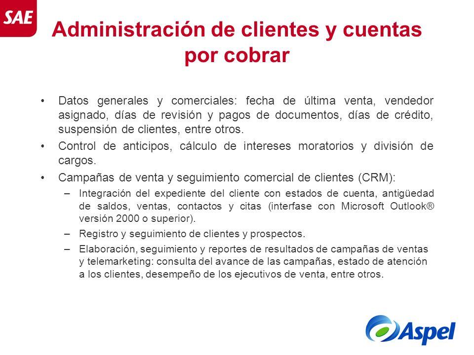 Administración de clientes y cuentas por cobrar