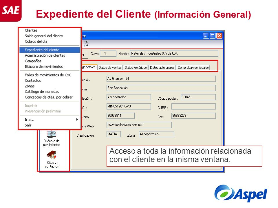 Expediente del Cliente (Información General)