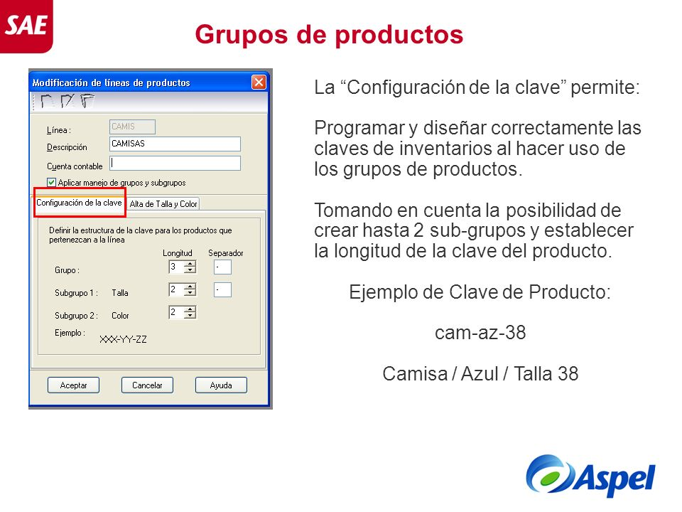 Ejemplo de Clave de Producto: