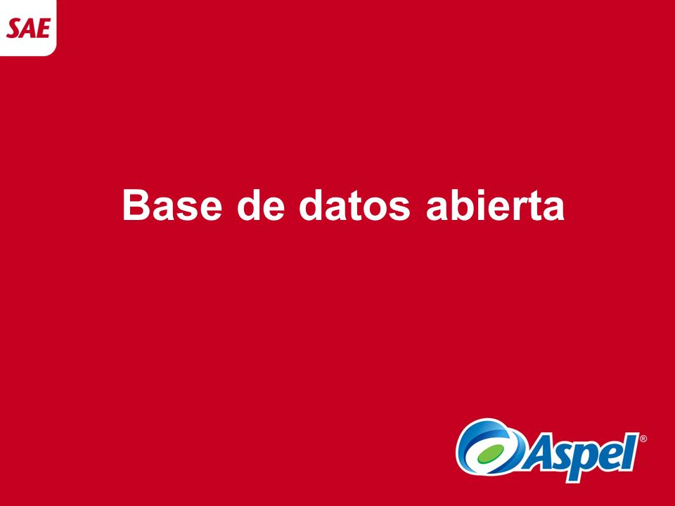 Base de datos abierta