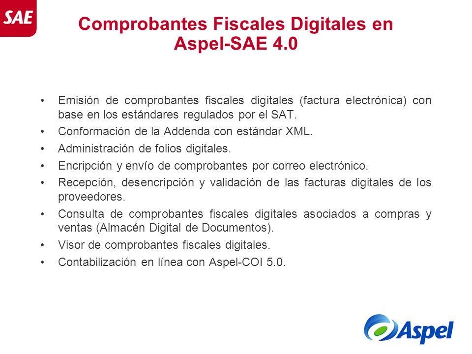 Comprobantes Fiscales Digitales en Aspel-SAE 4.0