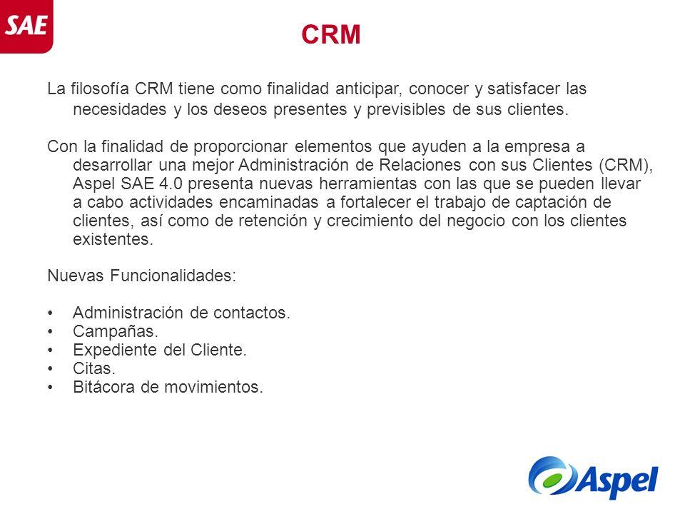 CRM La filosofía CRM tiene como finalidad anticipar, conocer y satisfacer las necesidades y los deseos presentes y previsibles de sus clientes.
