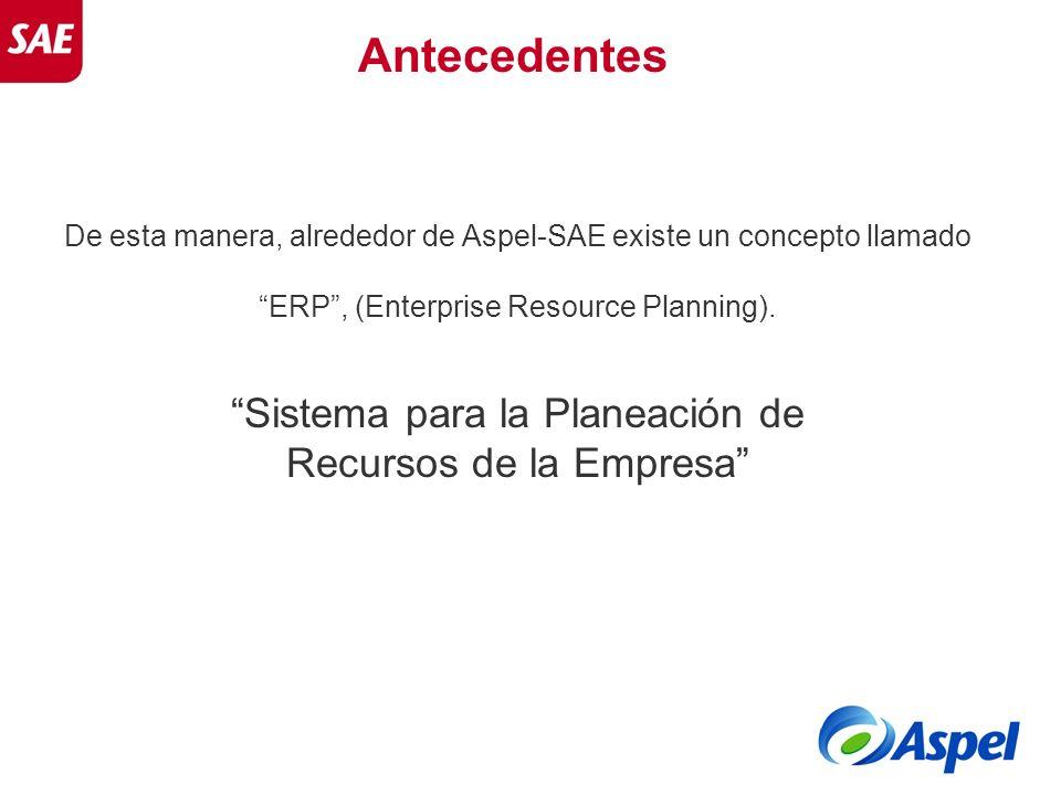 Antecedentes Sistema para la Planeación de Recursos de la Empresa