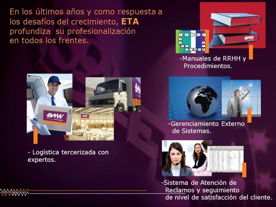 En los últimos años y como respuesta a los desafíos del crecimiento, ETA profundiza su profesionalización en todos los frentes.