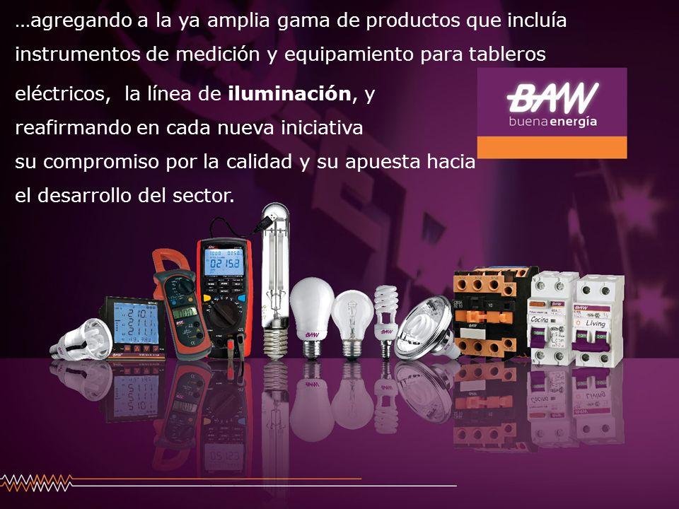 …agregando a la ya amplia gama de productos que incluía instrumentos de medición y equipamiento para tableros