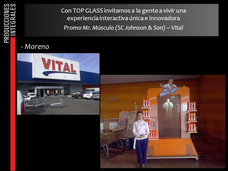 - Moreno Con TOP GLASS invitamos a la gente a vivir una