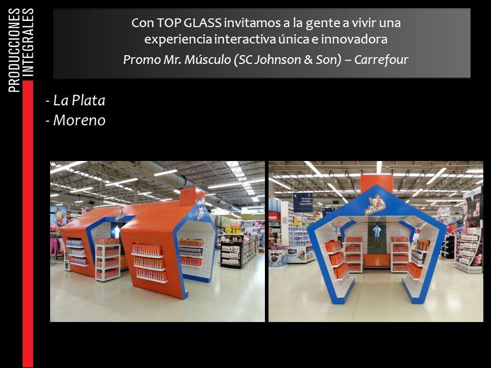 - La Plata - Moreno Con TOP GLASS invitamos a la gente a vivir una