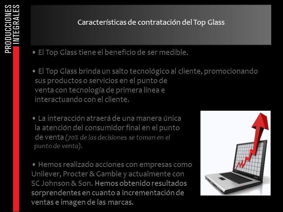 Características de contratación del Top Glass