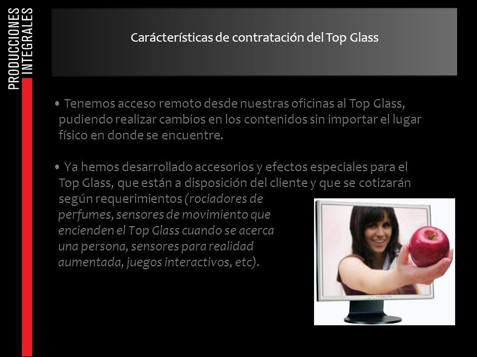 Carácterísticas de contratación del Top Glass