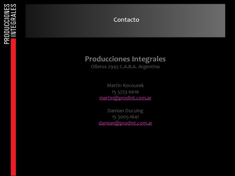 Producciones Integrales