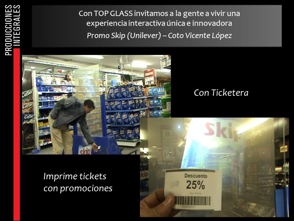 Con Ticketera Imprime tickets con promociones